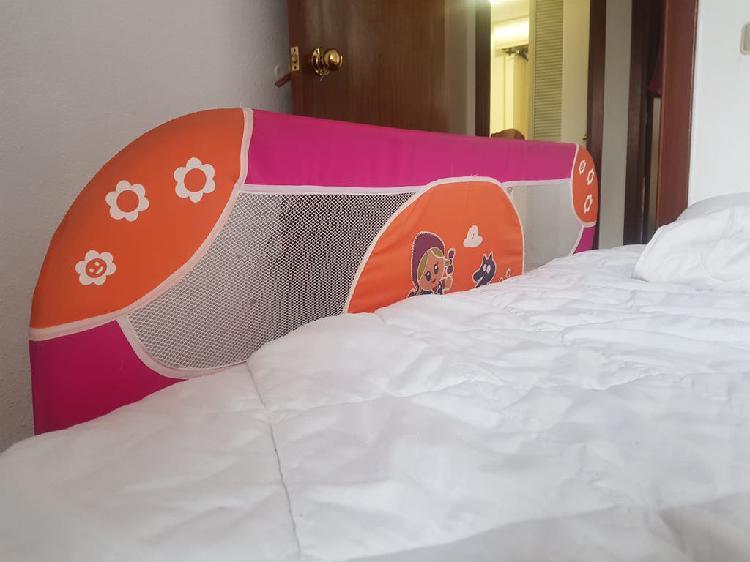 Barandilla para cama de niña