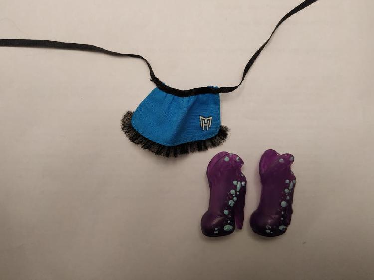 Conjunto zapatos abbey bominable y delantal