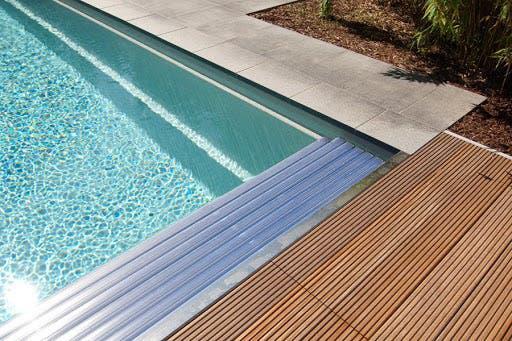 Cubierta piscina y enjaretado madera pro