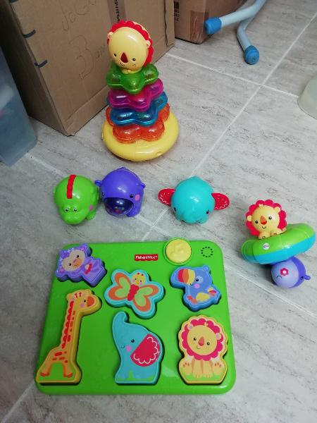 Fisher price pack encajables y juguete para baño
