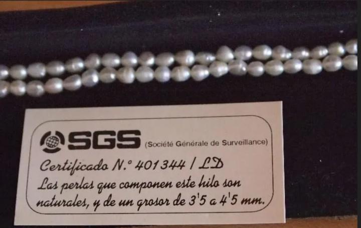 Perlas naturales de 3,5 a 4,5 mm con certificado