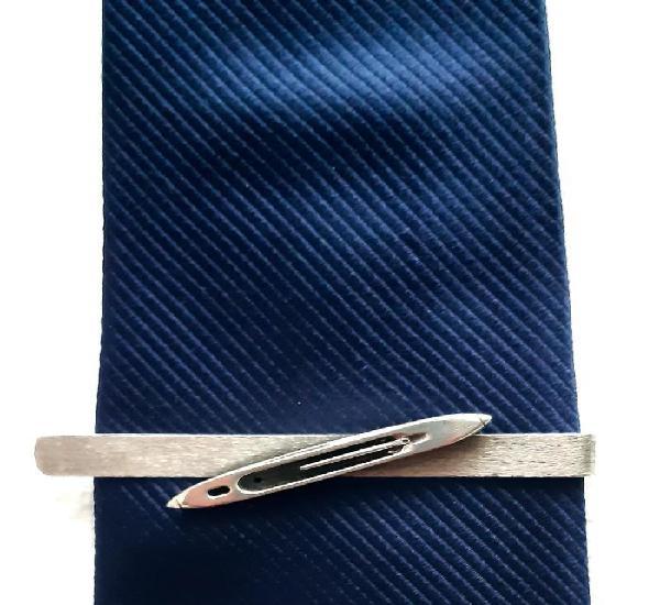 Sujeta corbatas en plata de ley años 70