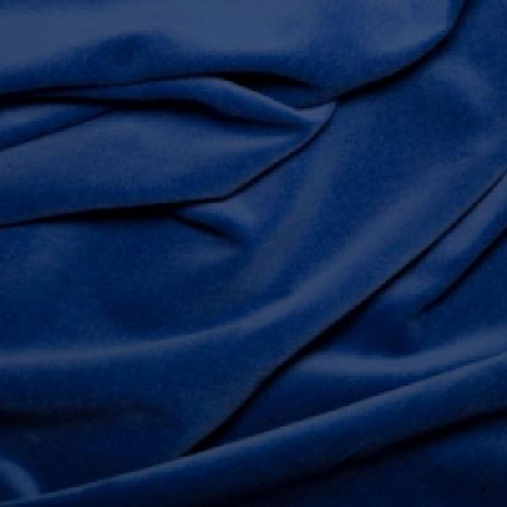 Azul royal premium 100% algodón terciopelo tela - 112cm (44