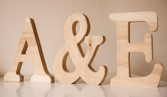 Cartas de madera grandes - palabra personalizada nombre