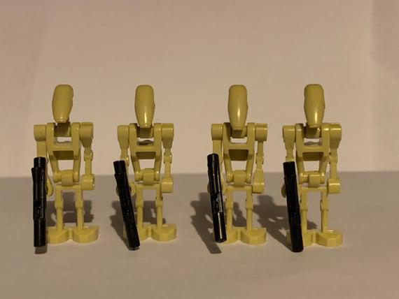 General grievous y b1 batalla droid lote de 5 droids clone