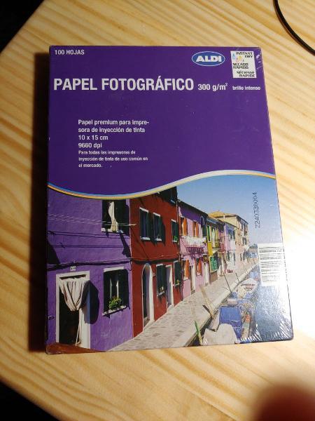 100 hojas de papel fotográfico calidad premium