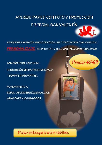 Aplique pared con foto y proyección especial