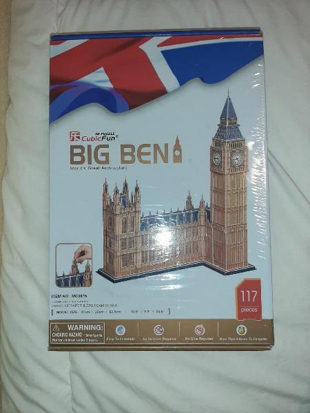 Puzzle 3d big ben. cubicfun.