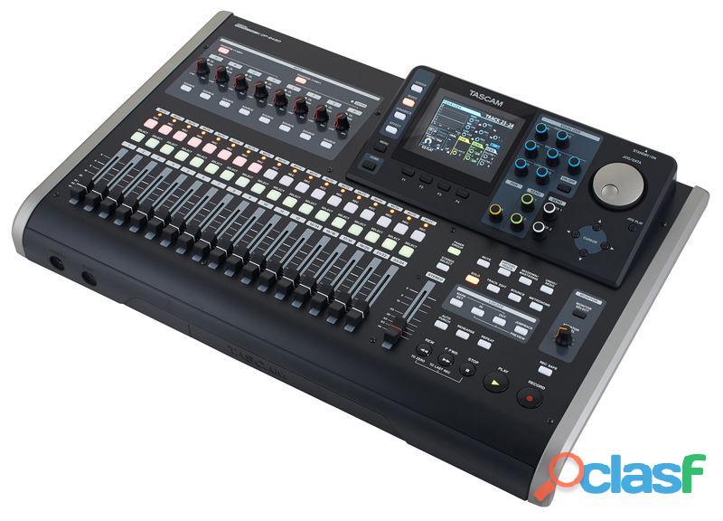 Mesa con grabadora digital 8 canales tascam ds24sd
