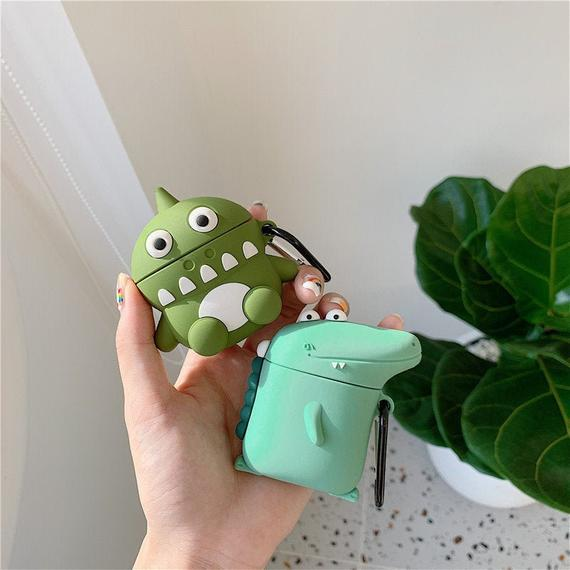 Cute Dino AirPods Case, Funny Dinosaur AirPods 1 Case with