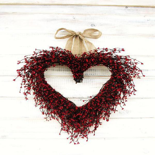 Día de san valentín wreath-valentines día hogar