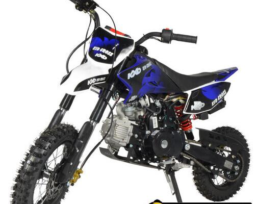 Pit bike infantil 125cc kxd semi automática azul