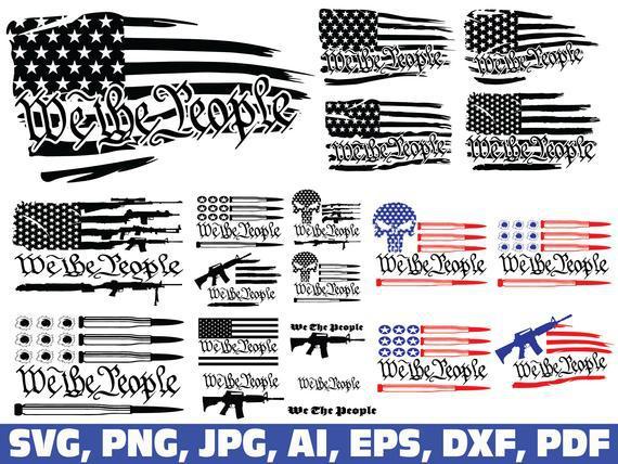 Nosotros la gente svg, nosotros la gente bandera americana