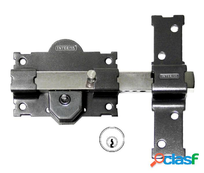Cerrojo sobreponer bombillo 50mm 105mm acero gris 11 pintado gama v interfer 836556