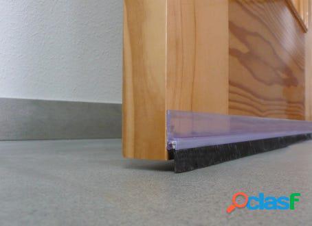 Burlete bajo puerta adhesivo flecos 100cm pvc rigido transparente burcasa 107320