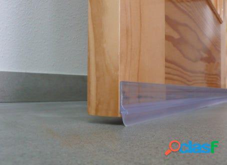 Burlete bajo puerta adhesivo labio 100cm pvc transparente burcasa 107322