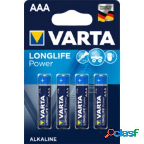 Pila alcalina lr03 aaa longlife power varta 1,5v 4 pz