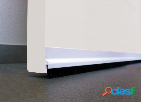Burlete bajo puerta adhesivo cepillo 092cm aluminio blanco burcasa 127470