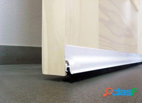 Burlete bajo puerta adhesivo labio 105cm aluminio blanco burcasa 128300