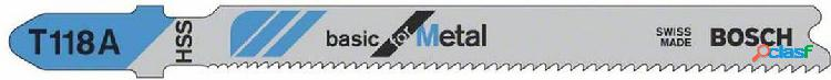 Hoja sierra bosch calar metal / chapa t118a 1/3mm 2608631013