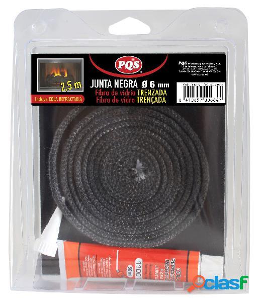 Junta puerta estufa 6x2,5 mm fibra vidrio pqs 13030182