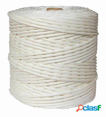 Cuerda fijacion trenzada 05mm 200 mt polipropileno blanco hyc 4108050200