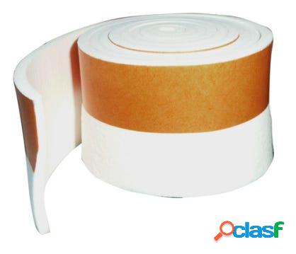 Burlete bajo puerta tira adhesiva 40mmx01mt pvc blanco burcasa 107301