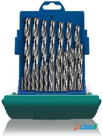 Broca metal rectificada hss juego 19pz 01-10 mm heller