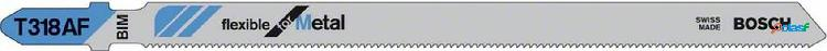 Hoja sierra bosch calar metal / aluminio corte fino t318af 1/3mm 2608634241