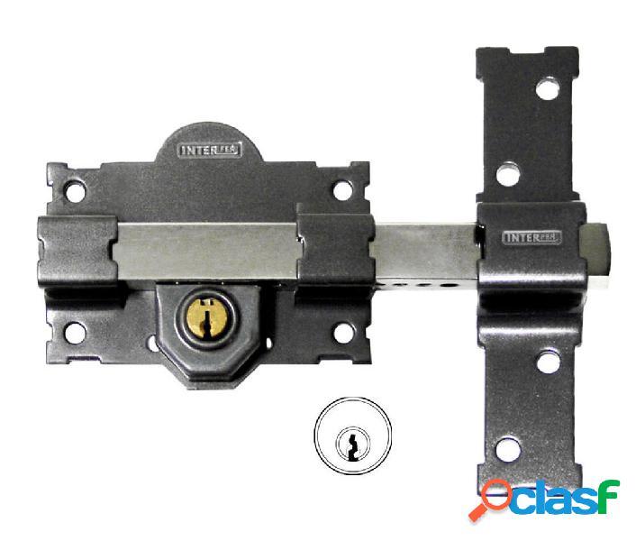 Cerrojo sobreponer bombillo 50mm 105mm acero gris 11-b pintado gama v interfer 836555