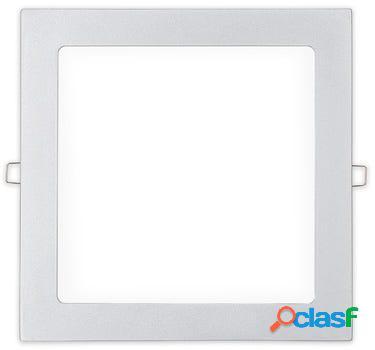 Foco iluminacion downlight cuadrado empotrable led 20w 1500lm 4000k 22x22cm aluminio/plastico blanco edm