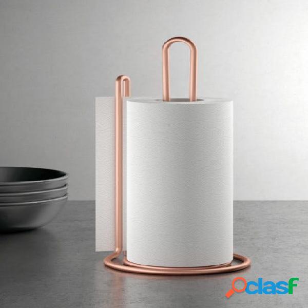 Soporte cocina portarrollos 15x32cm inox my roll copper metaltex