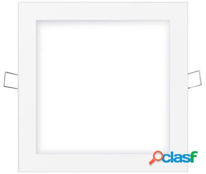 Foco iluminacion downlight cuadrado empotrable led 20w 1500lm 6400k 24,2x21,1x5,8cm aluminio/plastico blanco edm