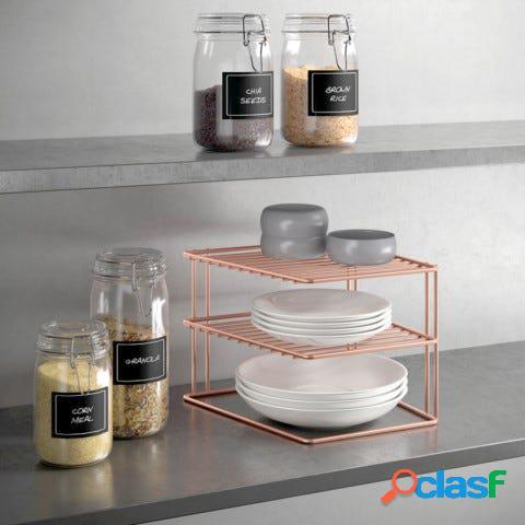 Estante cocina rinconera 25x25x19cm inox palio copper metaltex