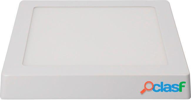 Foco iluminacion downlight cuadrado superficie led 20w 1500lm 6400k 22,5x22,5x4 aluminio/plastico blanco edm