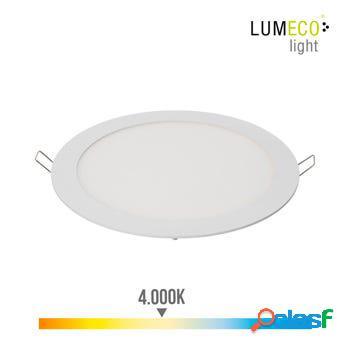 Foco iluminacion downlight redondo empotrable led 20w 1500lm 4000k ø19,5cm aluminio/plastico blanco edm