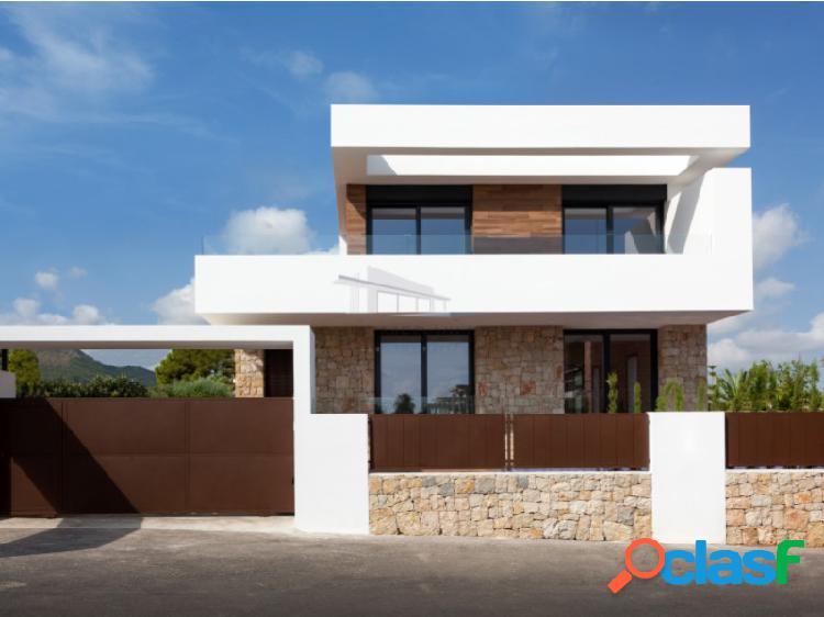 Villa moderna en construcción en venta a 500 metros de dénia