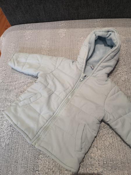 Abrigo cazadora a baby 12-18m azul claro