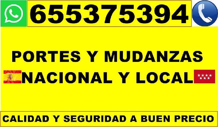 Mudanzas y portes local nacional, al instante 24h