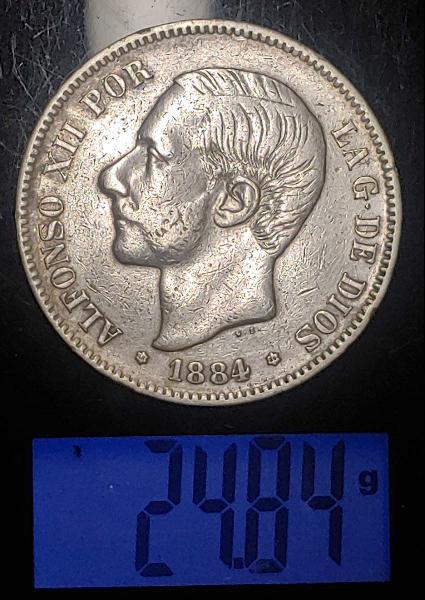 Moneda de plata de alfonso xii