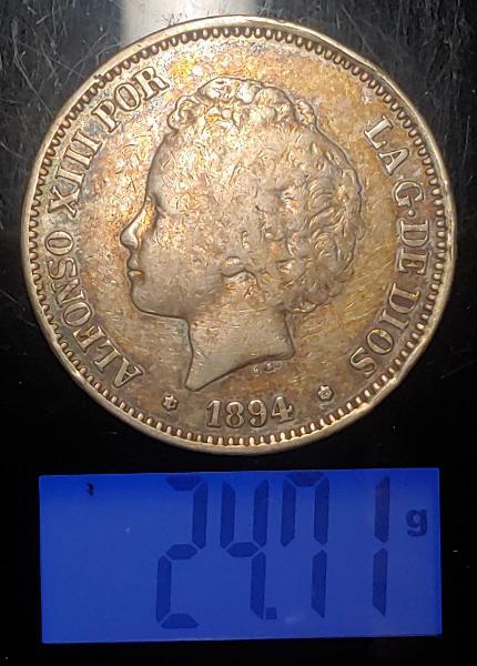 Moneda de plata de alfonso xiii