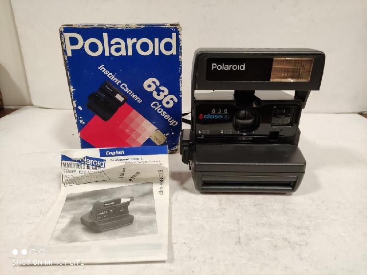 Polaroid 636 close up.caja e instruccion.funcionas
