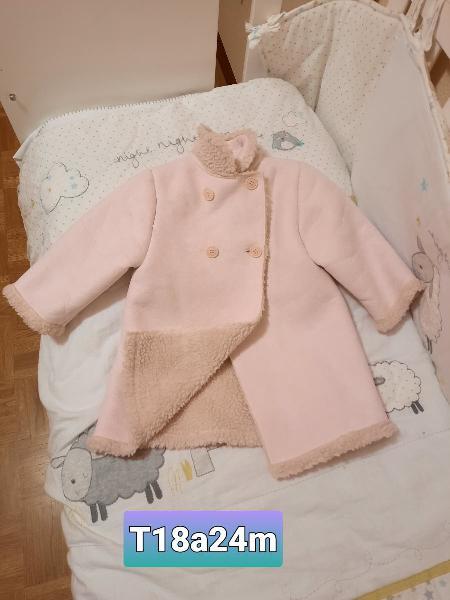 Abrigo niña borreguito rosa