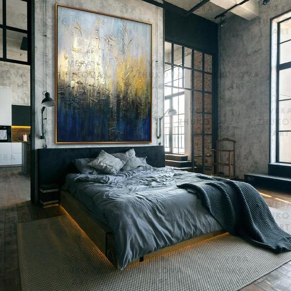 Extra large oversized wall art original acrylic painting on