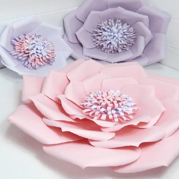 Flor de papel gigante - colgante de pared - decoración del
