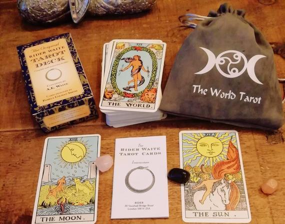Tarot cards deck and bag the original rider waite tarot