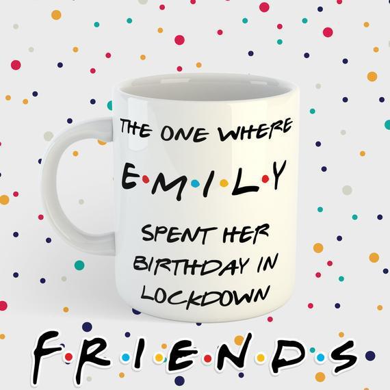 Taza de cumpleaños de encierro - taza de amigos - amigos