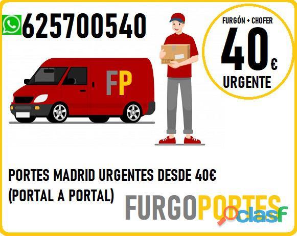 ¡Portes Vicálvaro! 625700540(*Fácil +Rápidos*)