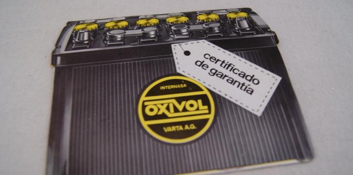 Certificado de garantía bateria varta oxivol internasa del