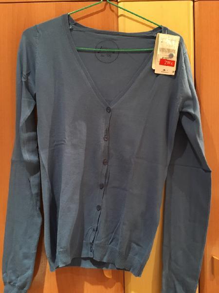 Chaqueta cardigan azul